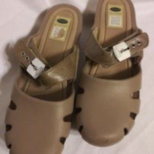 Dr.Scholls Dance Clogs-Tan-Size: 10